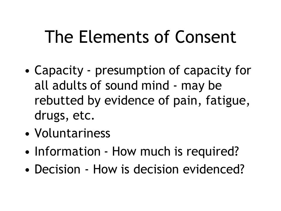The Elements of Consent