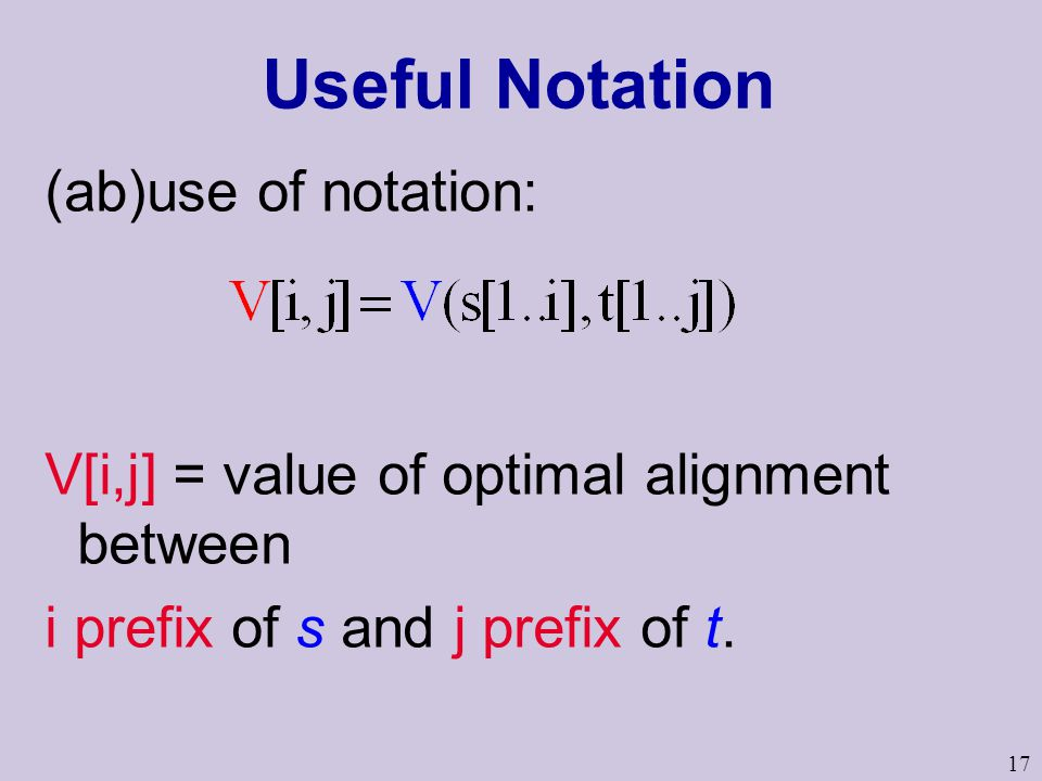 Useful Notation (ab)use of notation: