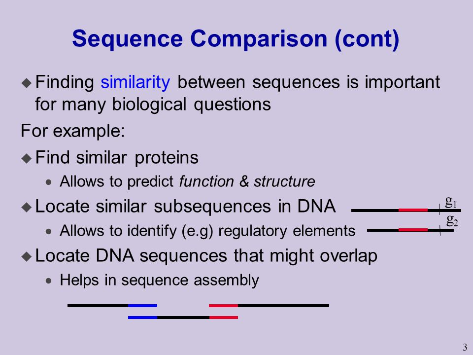 Sequence Comparison (cont)