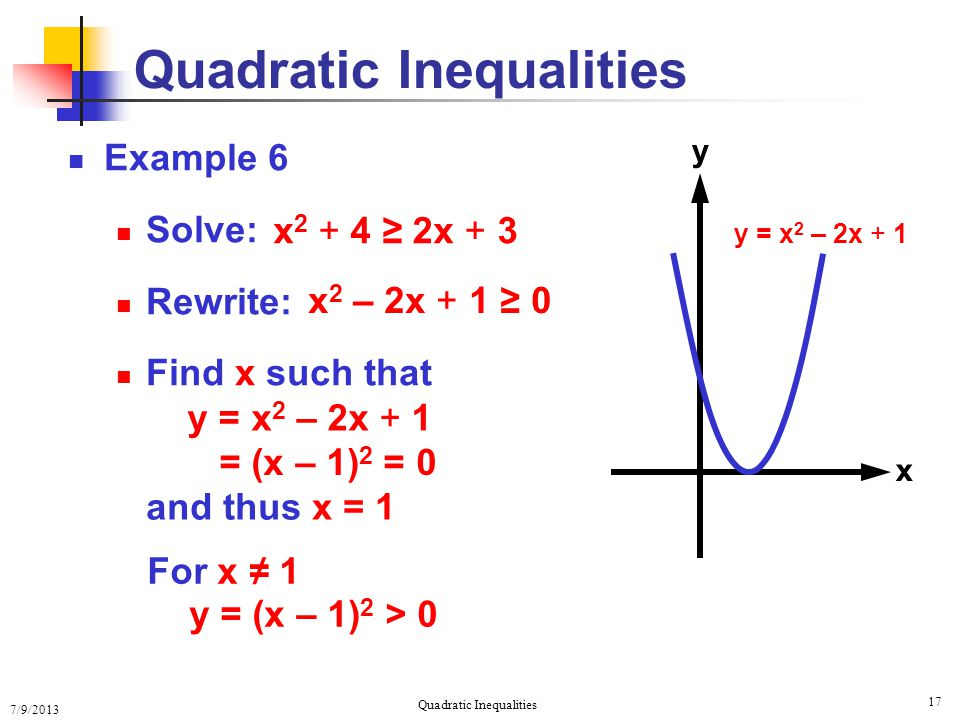 Quadratic Inequalities - ppt download