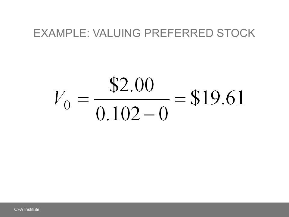 Example: Valuing Preferred Stock