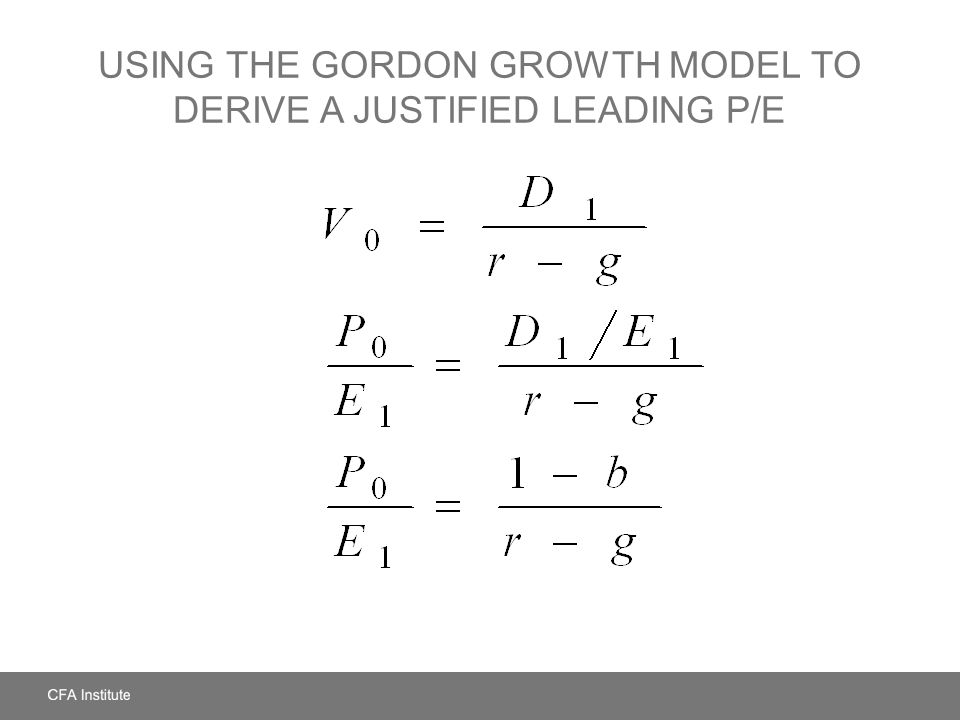 Using the Gordon Growth Model to Derive a Justified Leading P/E