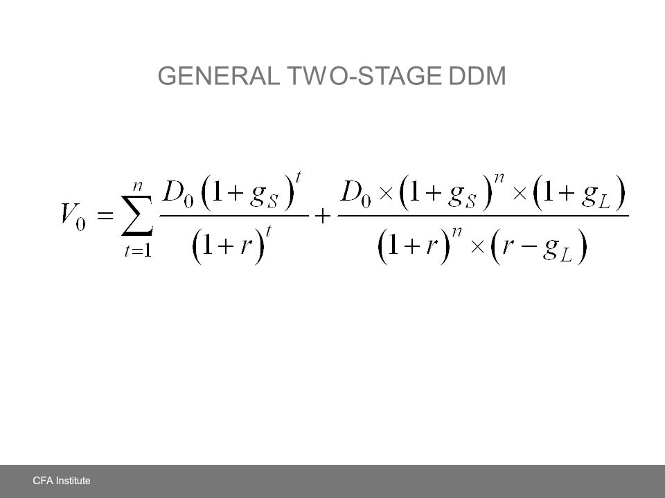 General Two-Stage DDM