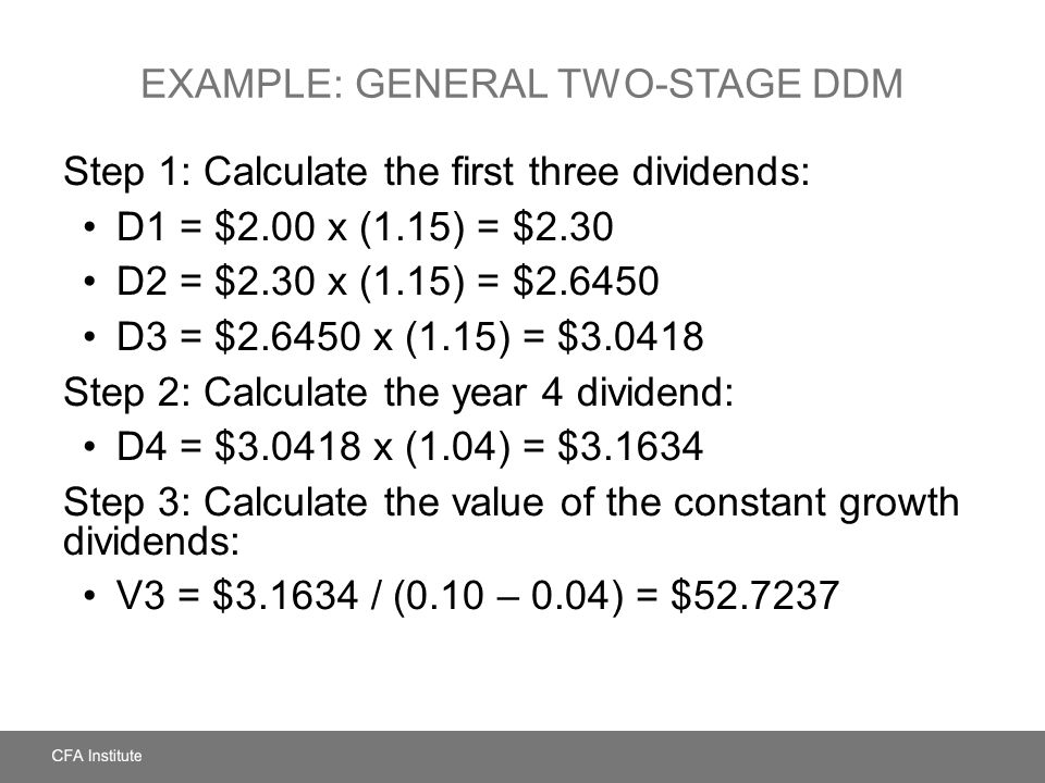 Example: General Two-Stage DDM