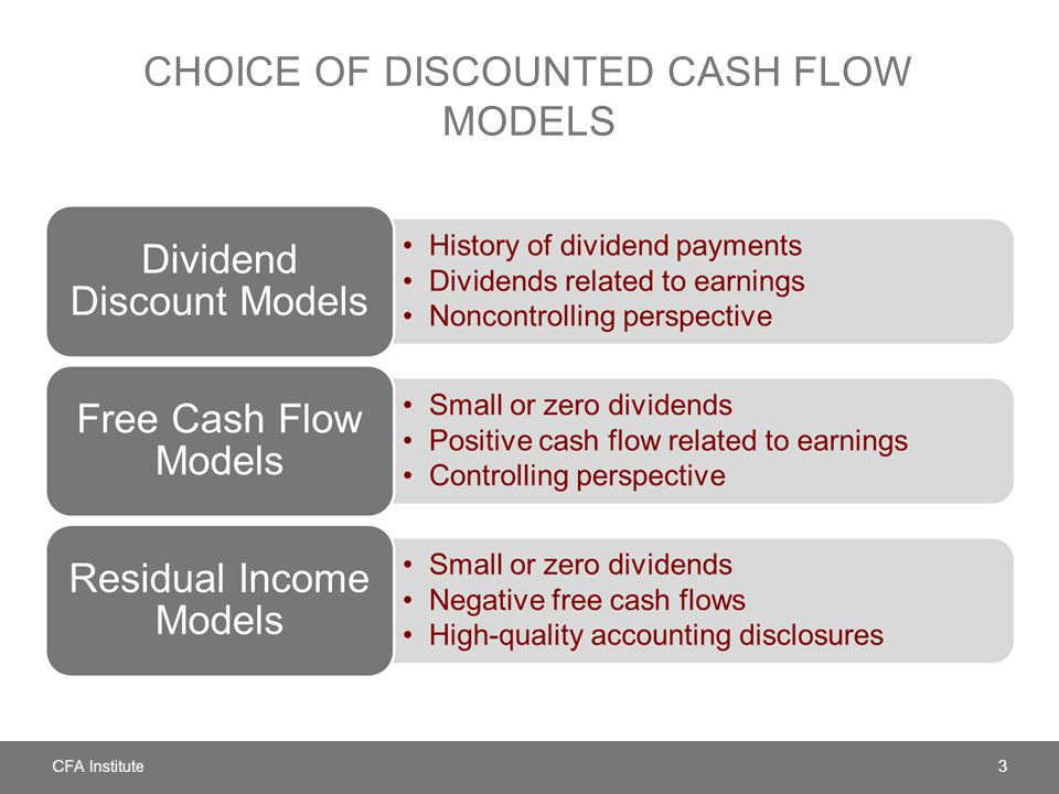 Choice of Discounted Cash Flow Models
