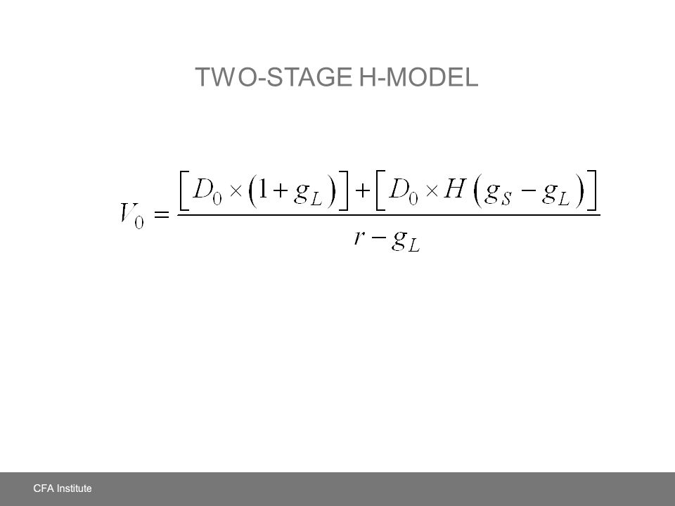 Two-Stage H-Model
