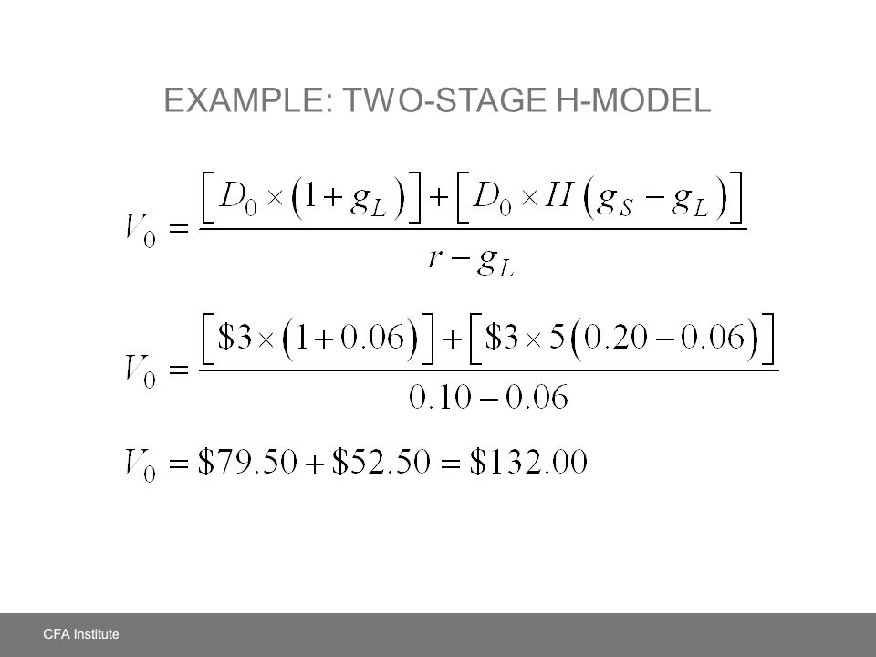 Example: Two-Stage H-Model