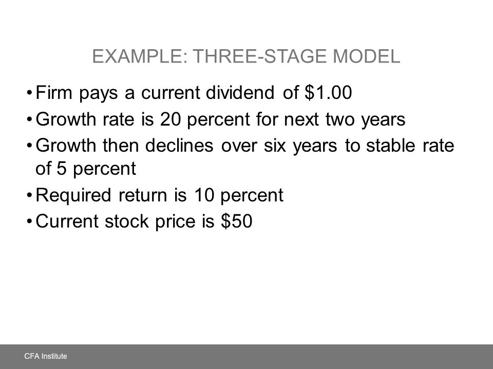 Example: Three-Stage Model