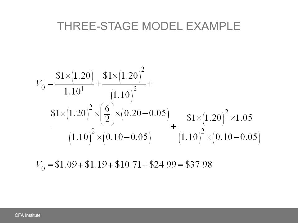 THREE-STAGE MODEL EXAMPLE
