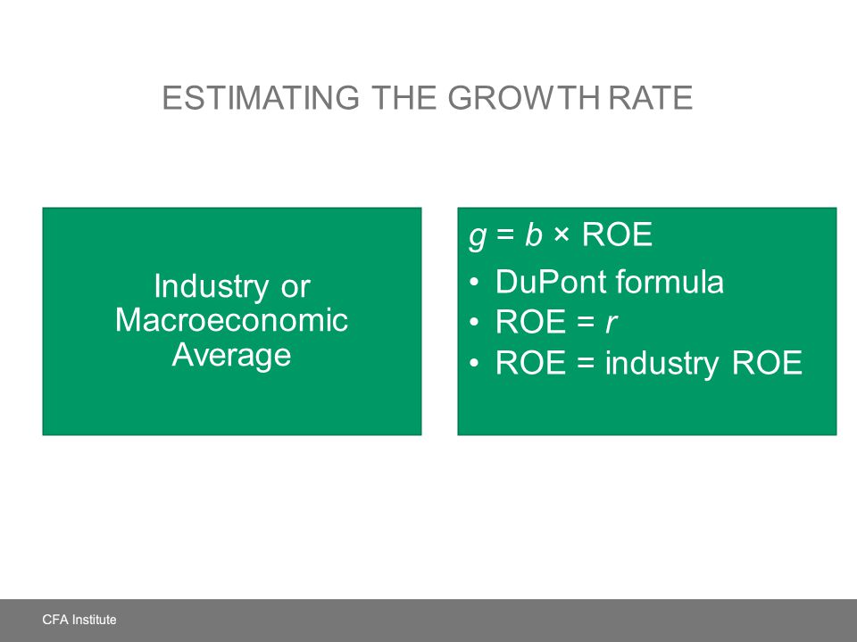 Estimating the Growth Rate