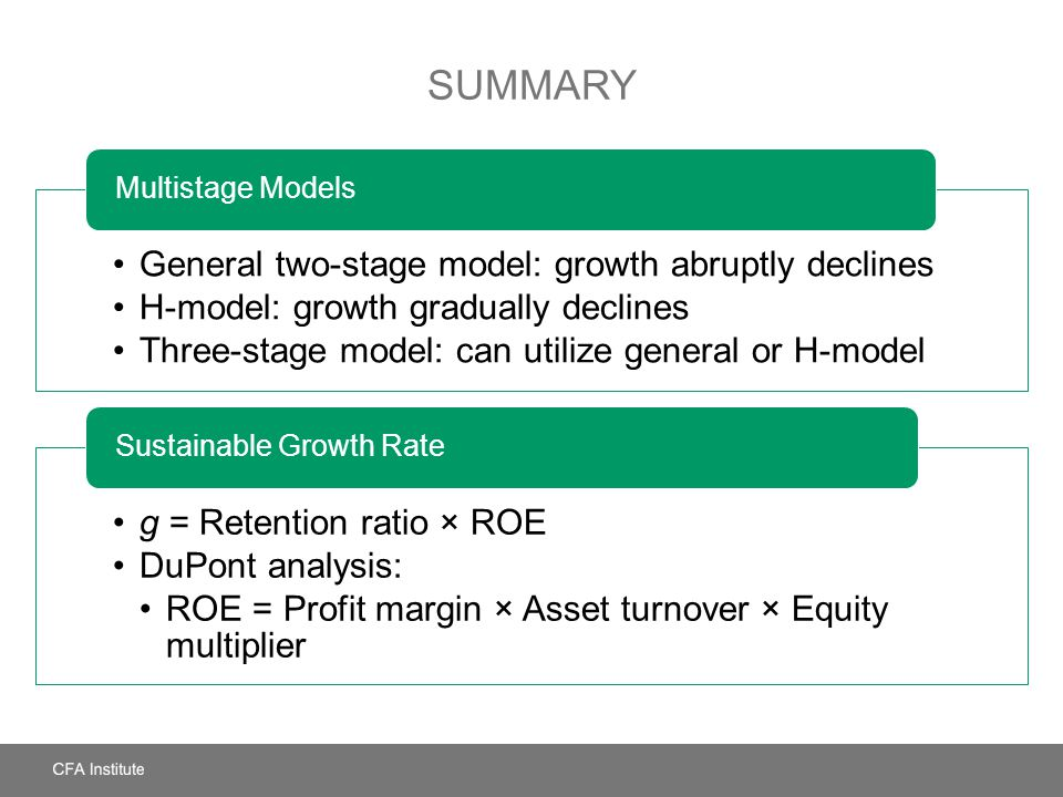 Summary General two-stage model: growth abruptly declines