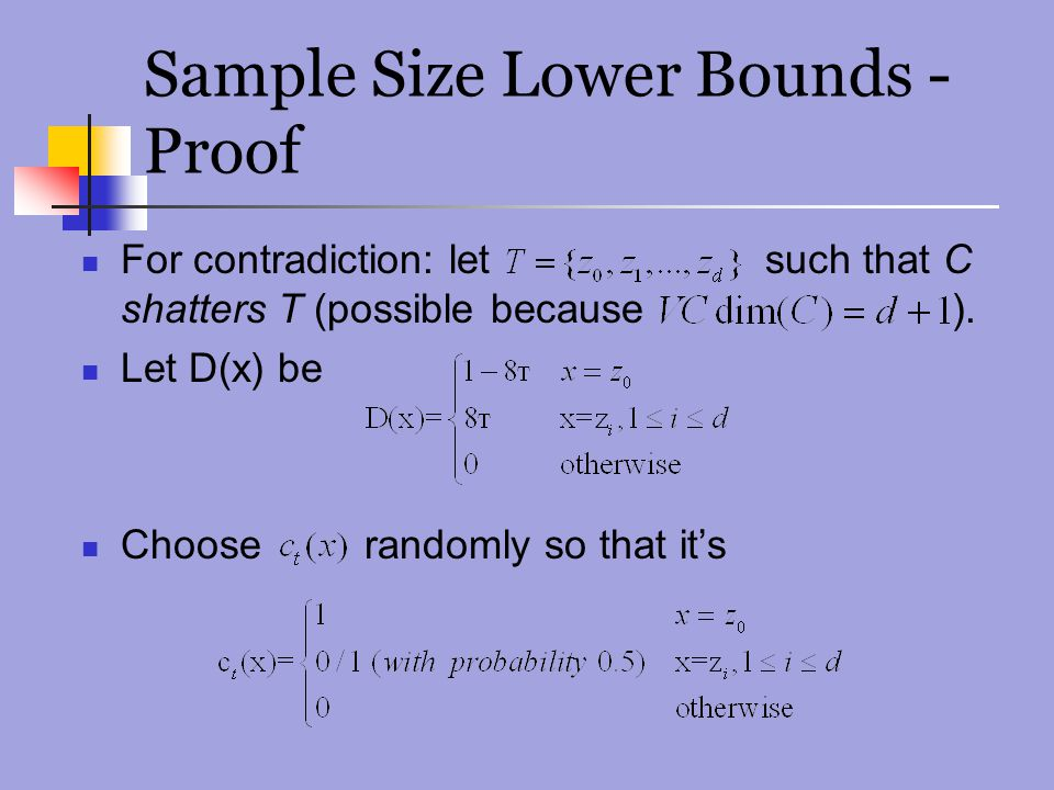 Sample Size Lower Bounds - Proof