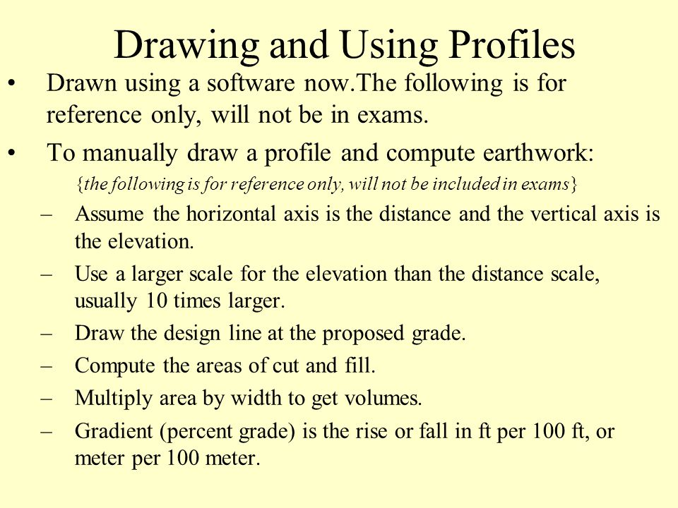 Drawing and Using Profiles