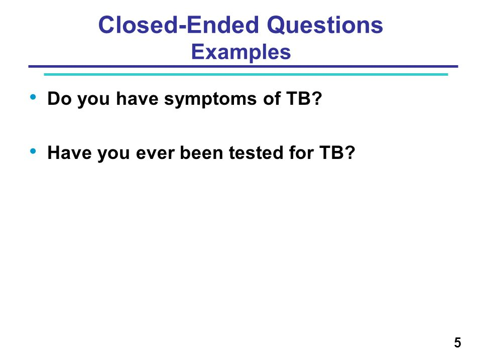 Closed-Ended Questions Examples