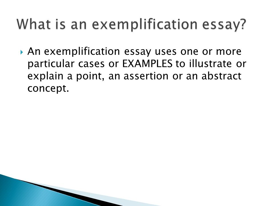 Exemplification Essay Writing Help