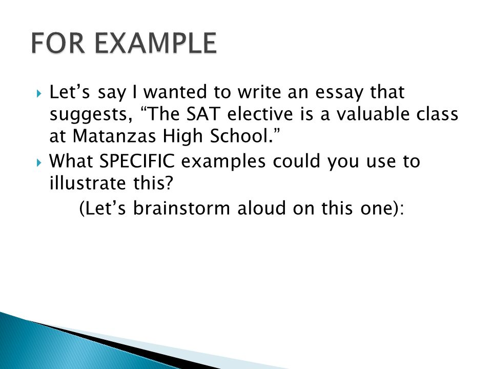 sat essay examples list These sample sat essays can be used by students to study for the sat essay use these sample sat essays to help you dramatically improve your sat essay.
