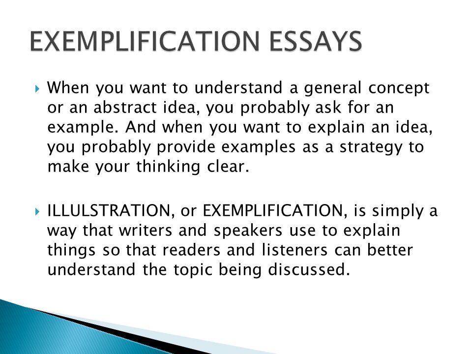 examplification essay 3 Get access to exemplification essay essays only from anti essays listed results 1 - 30 get studying today and get the grades you want only at.
