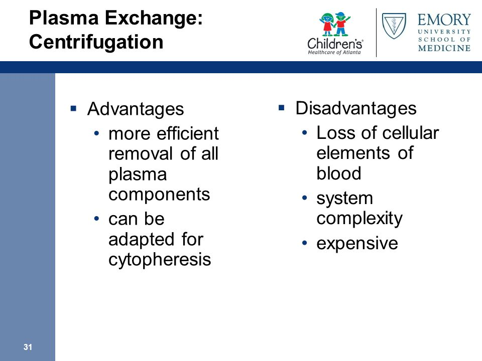 Plasma Exchange: Centrifugation