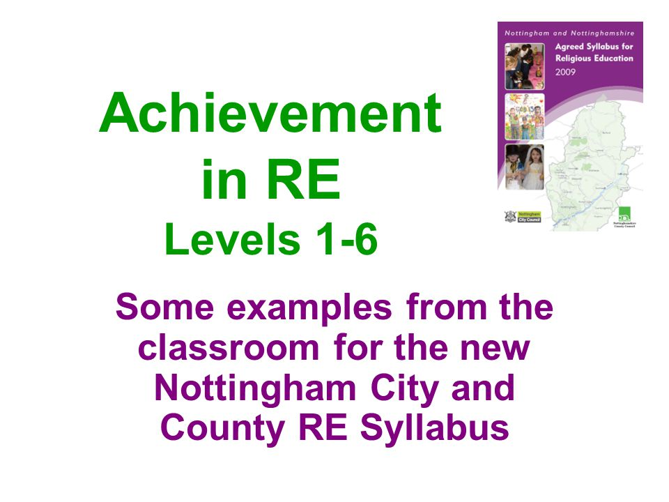 Achievement in RE Levels 1-6