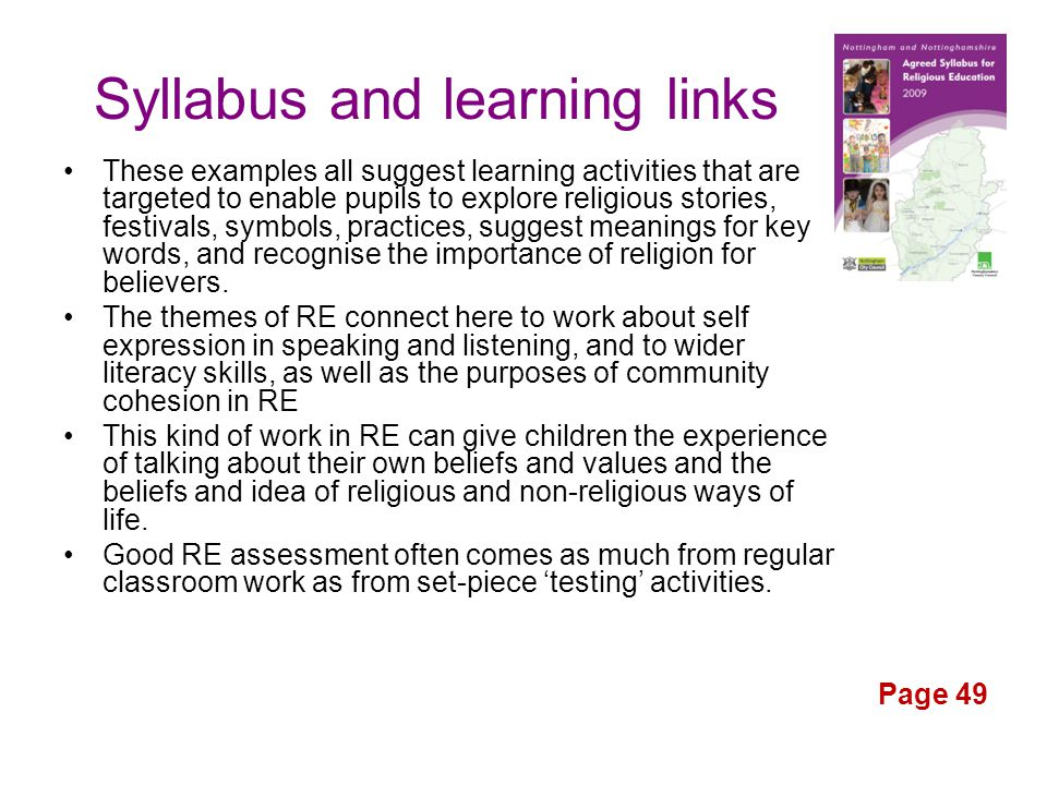Syllabus and learning links
