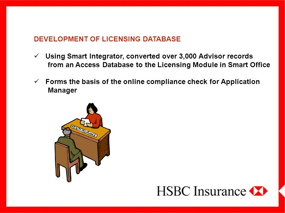 DEVELOPMENT OF LICENSING DATABASE