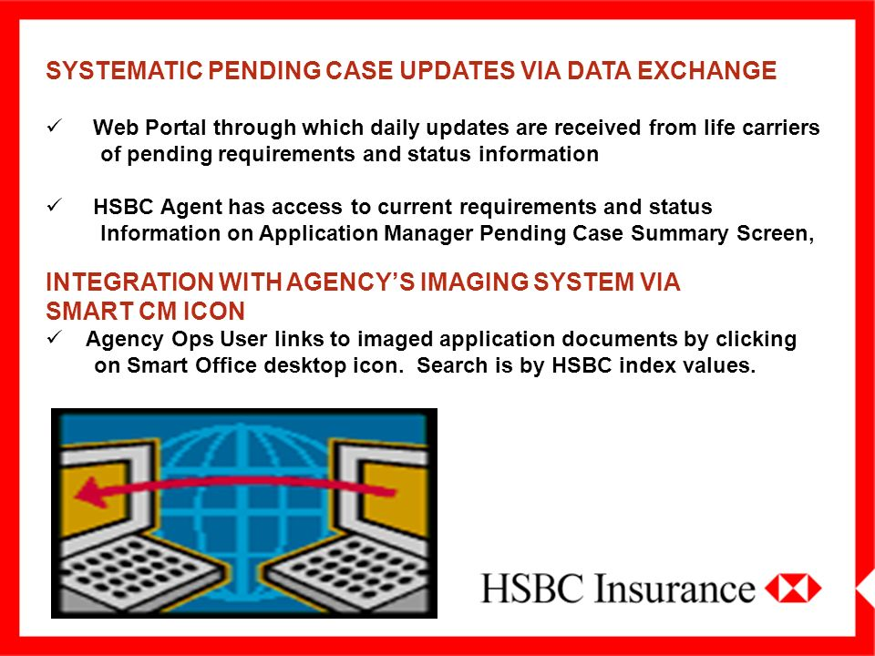 SYSTEMATIC PENDING CASE UPDATES VIA DATA EXCHANGE