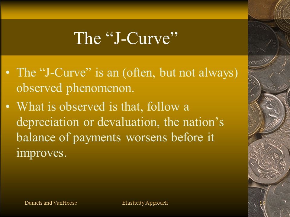 The J-Curve The J-Curve is an (often, but not always) observed phenomenon.