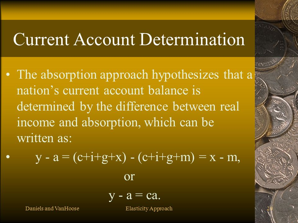 Current Account Determination