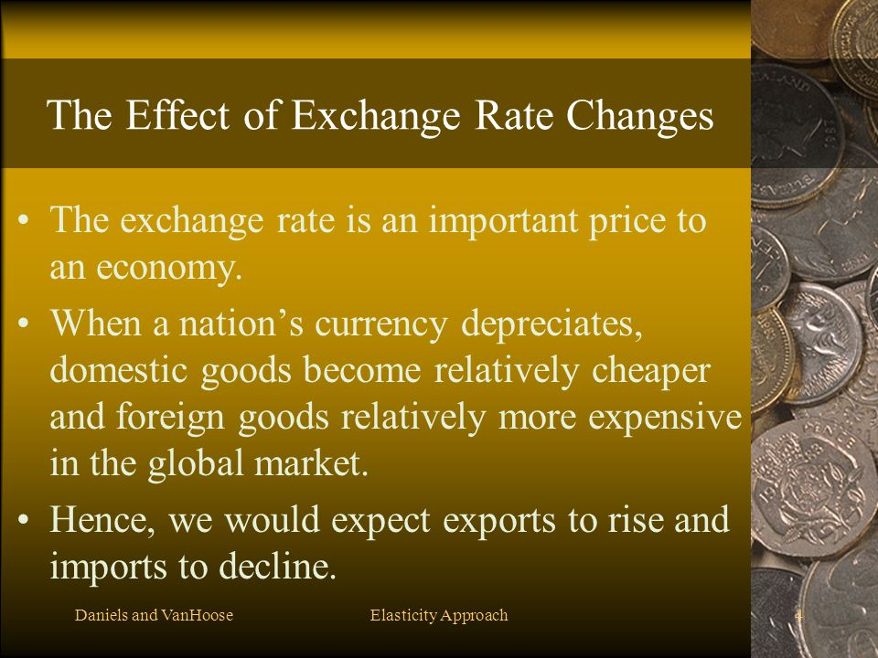 The Effect of Exchange Rate Changes