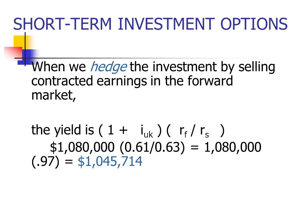 How to trade short term options