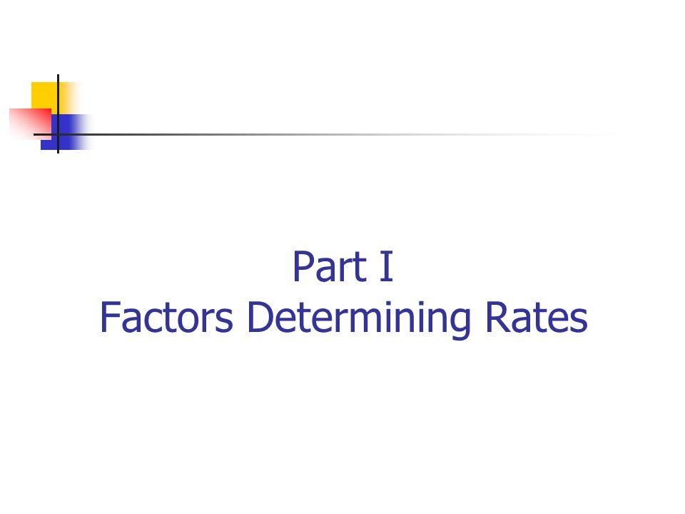 Part I Factors Determining Rates