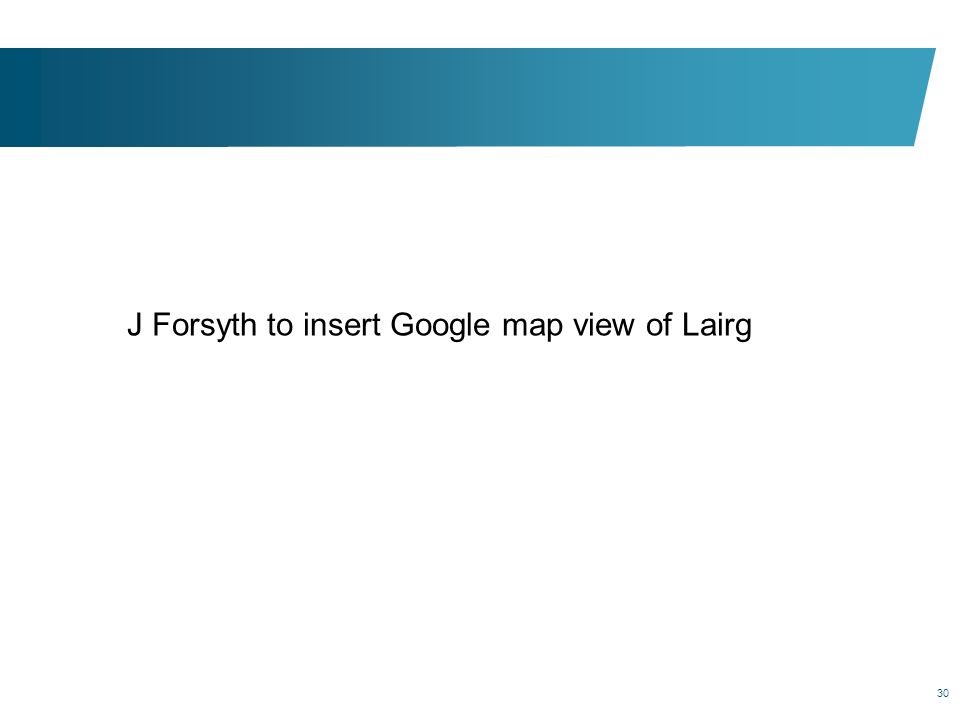 J Forsyth to insert Google map view of Lairg
