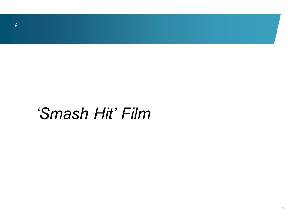 ' 'Smash Hit' Film