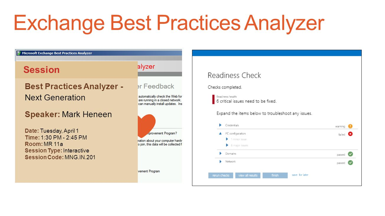 Exchange Best Practices Analyzer