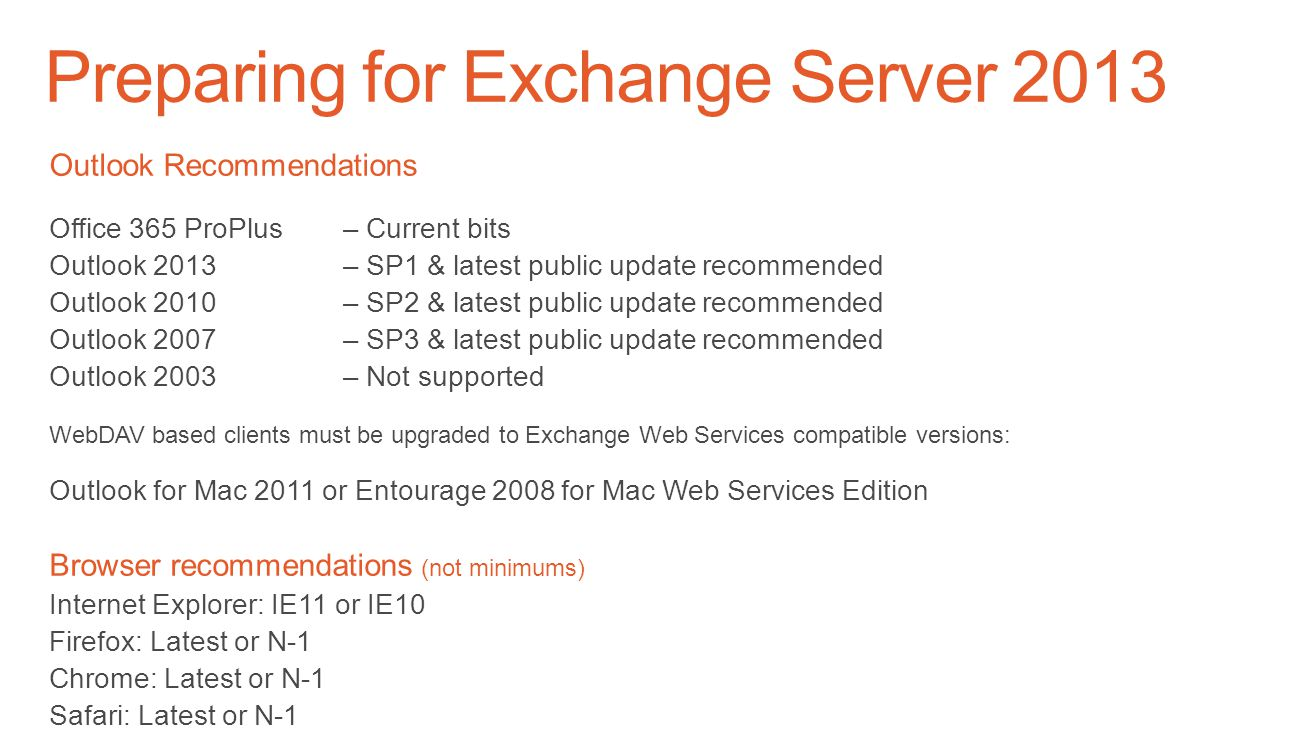 Preparing for Exchange Server 2013