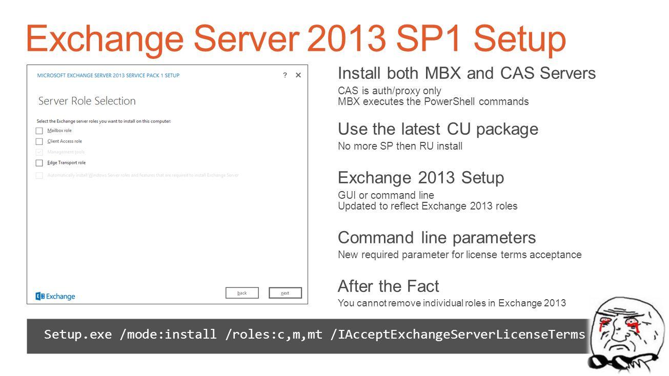 Exchange Server 2013 SP1 Setup