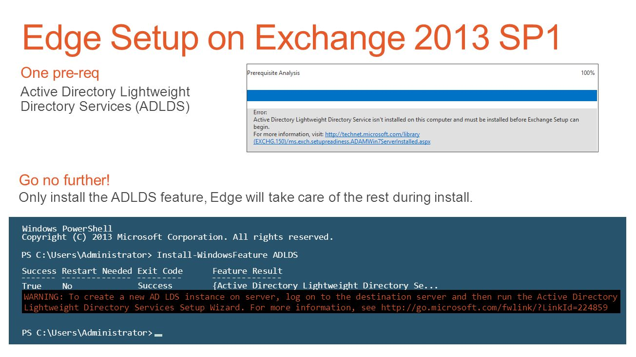 Edge Setup on Exchange 2013 SP1