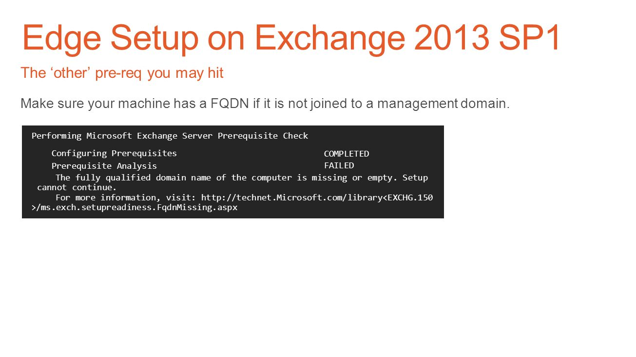 Edge Setup on Exchange 2013 SP1
