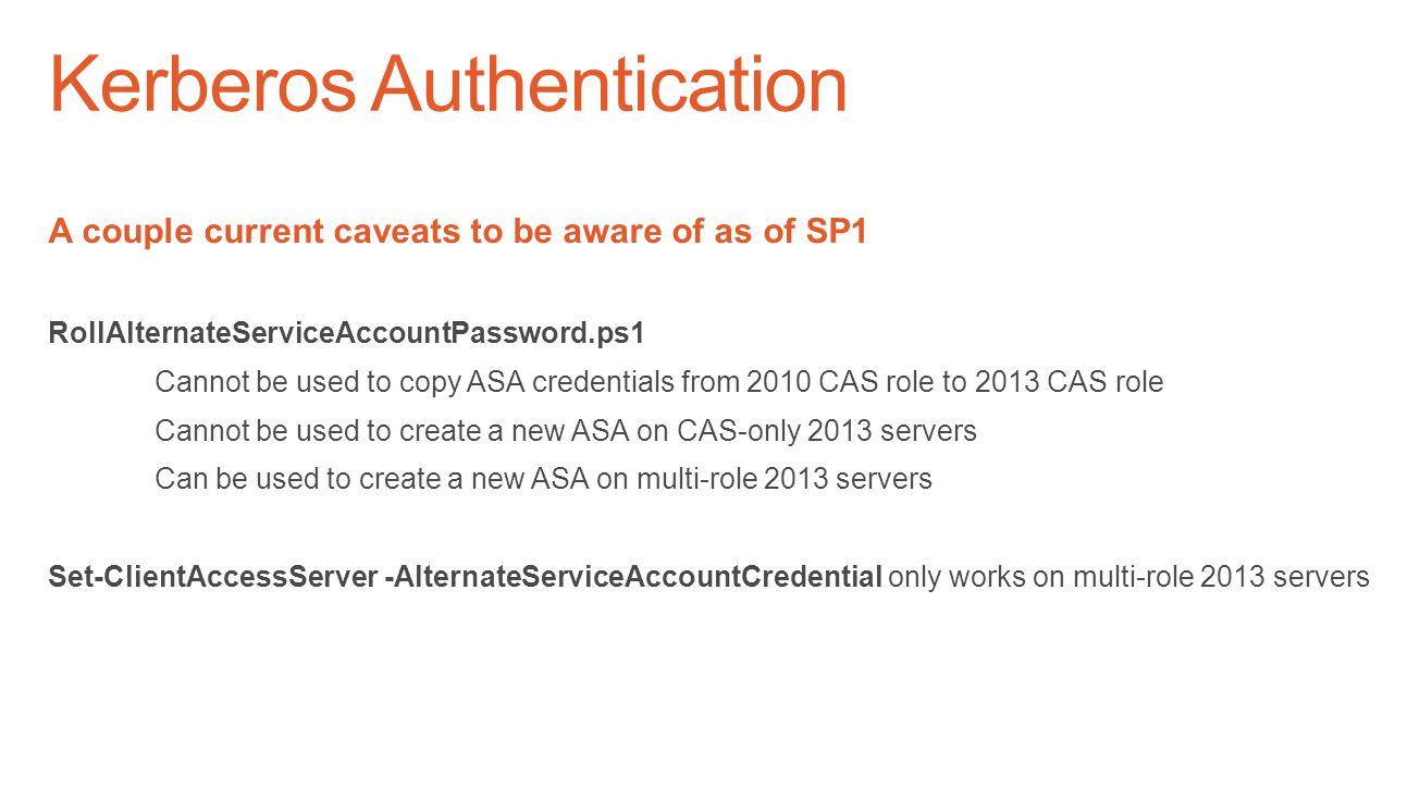 Kerberos Authentication