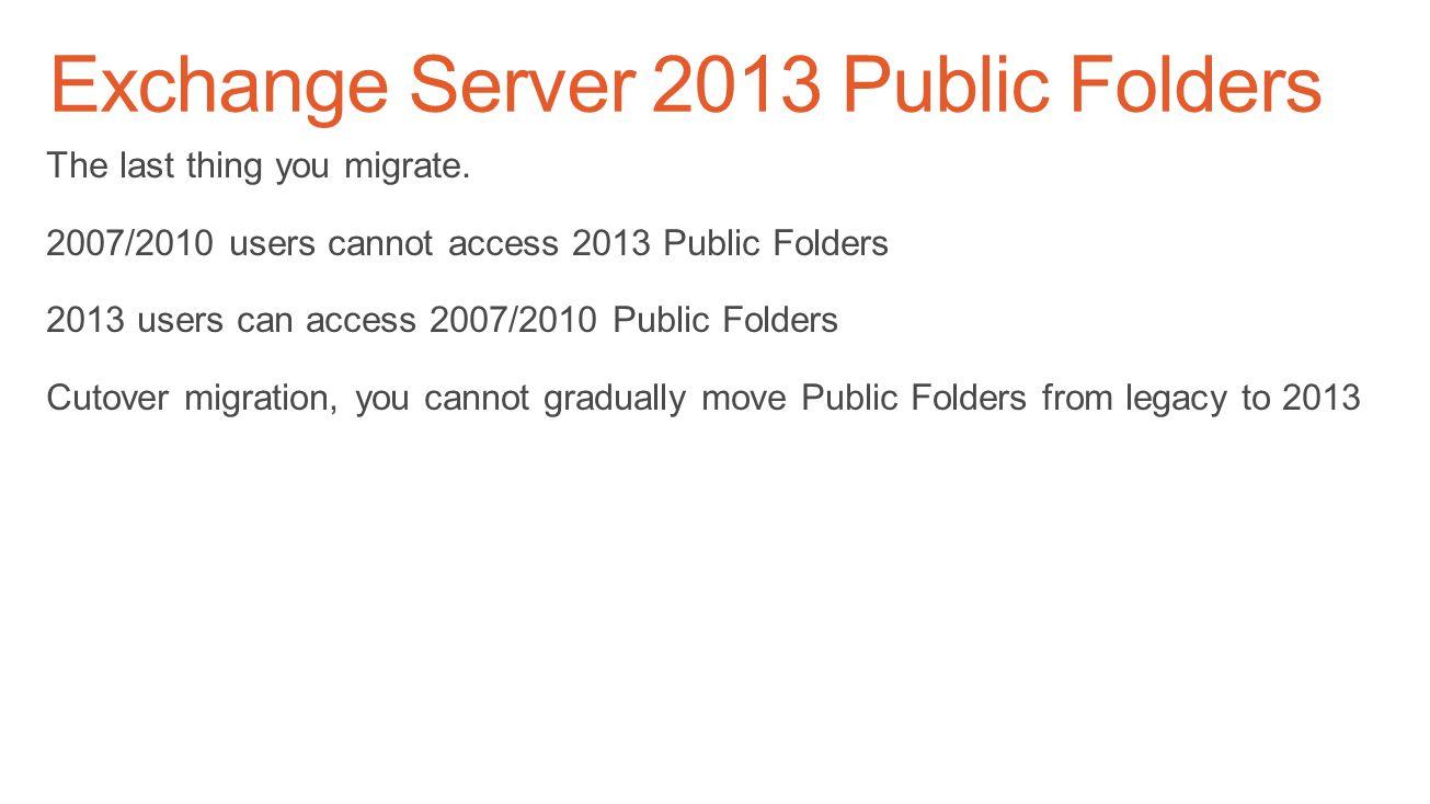 Exchange Server 2013 Public Folders