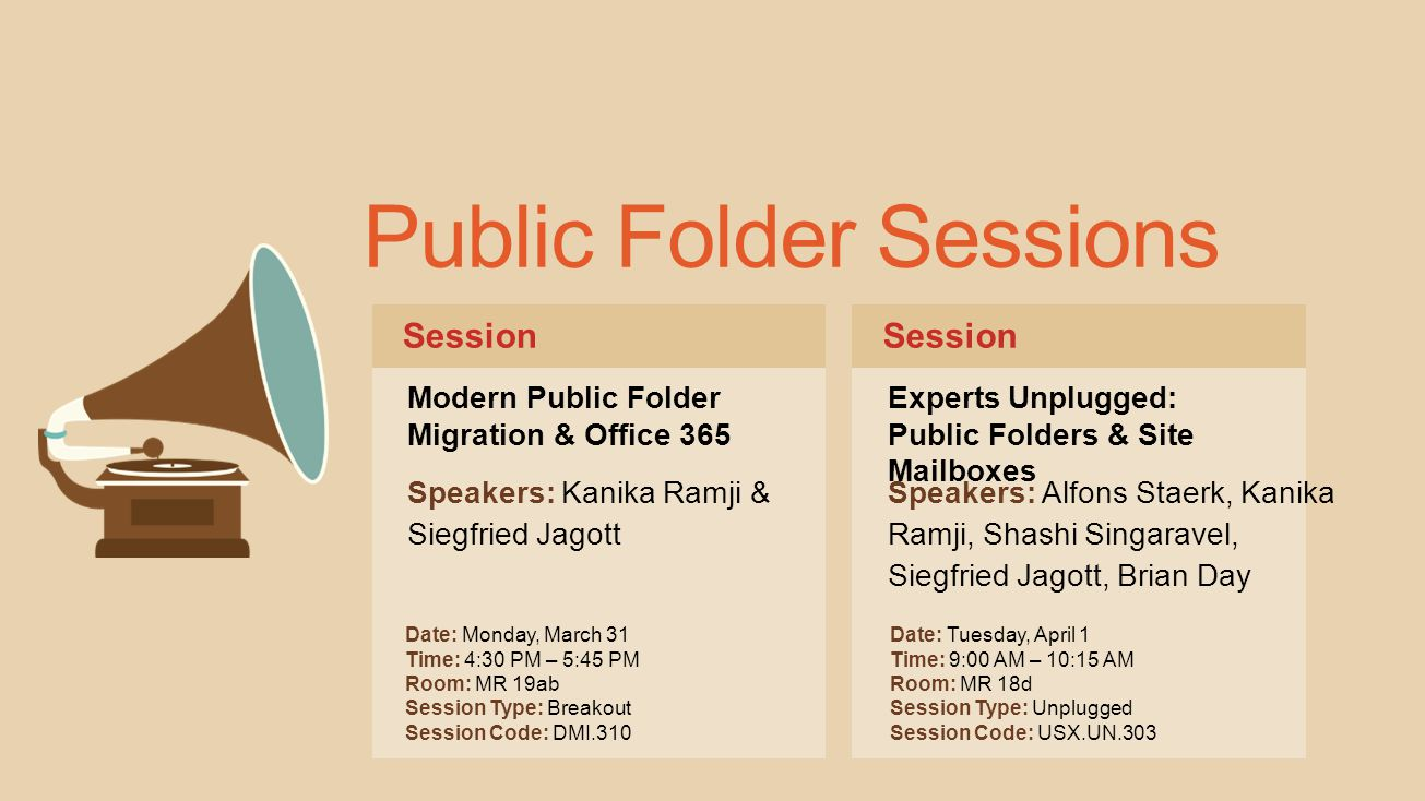 Public Folder Sessions