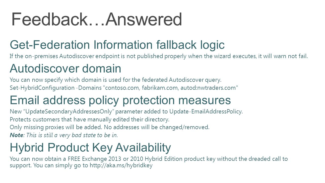 Feedback…Answered Get-Federation Information fallback logic
