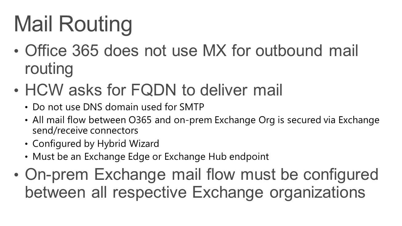 Mail Routing Office 365 does not use MX for outbound mail routing