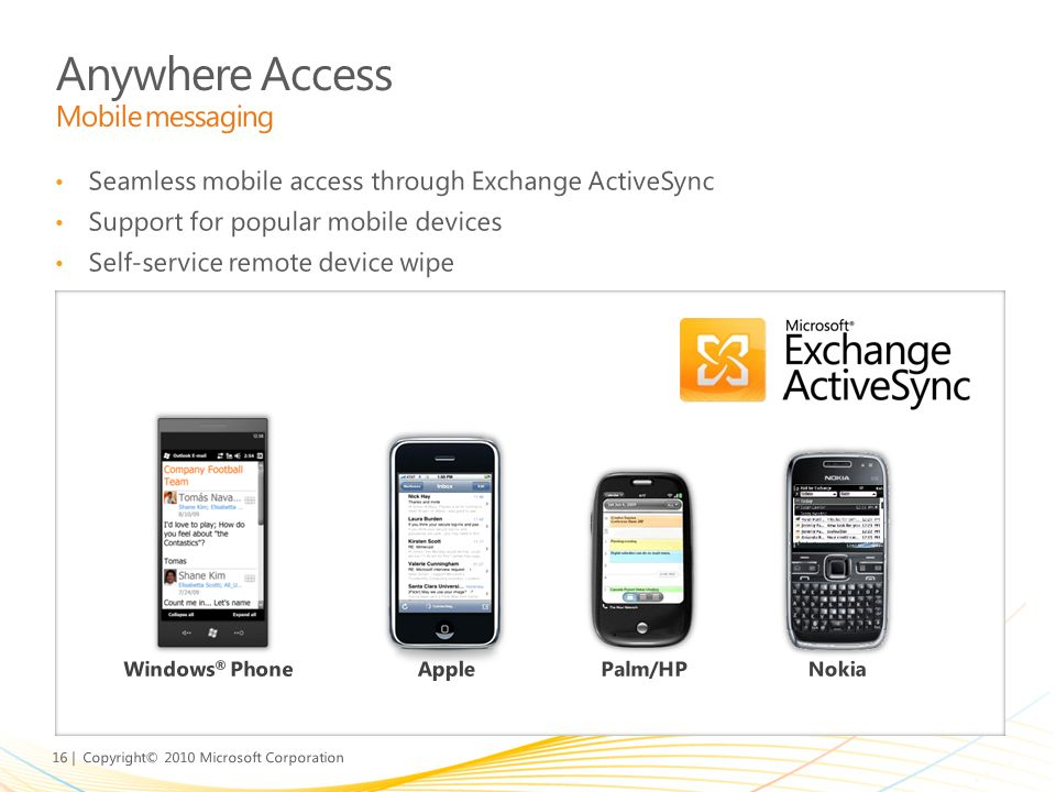 Anywhere Access Mobile messaging