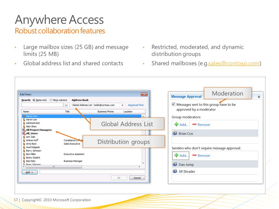Anywhere Access Robust collaboration features