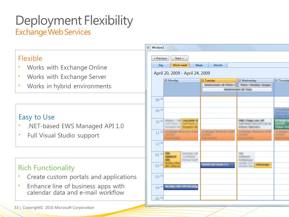 Deployment Flexibility Exchange Web Services