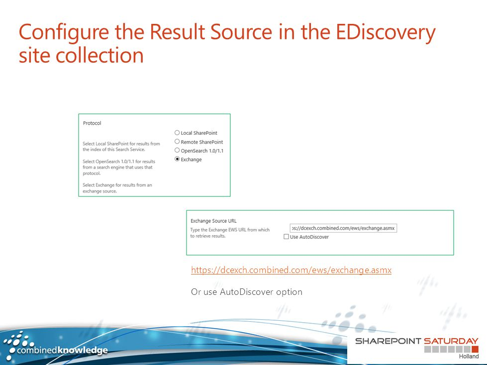 Configure the Result Source in the EDiscovery site collection