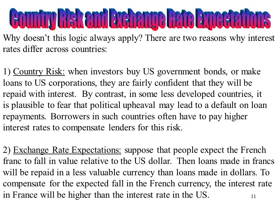 Country Risk and Exchange Rate Expectations
