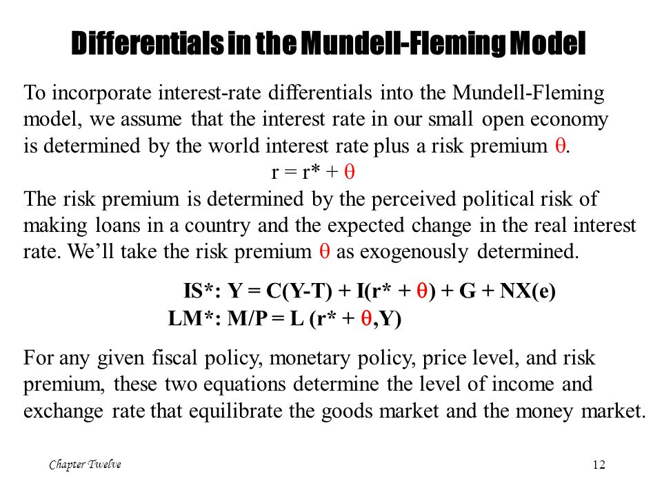 Differentials in the Mundell-Fleming Model