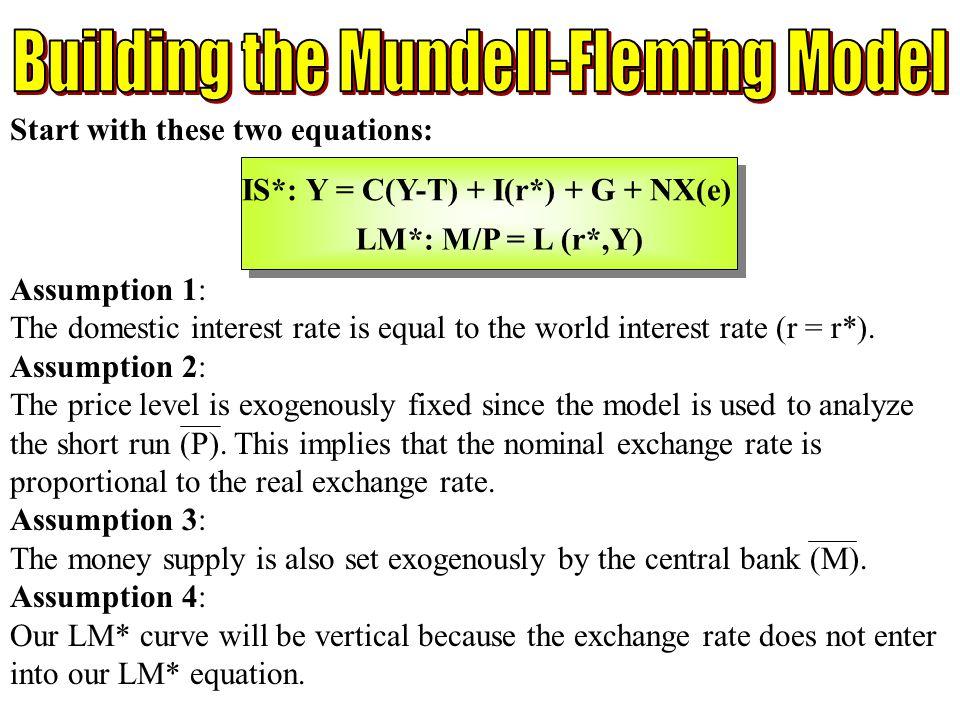 Building the Mundell-Fleming Model